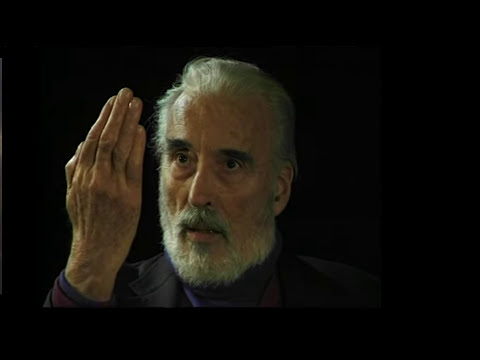 Very good advice by Christopher Lee - not only for actors