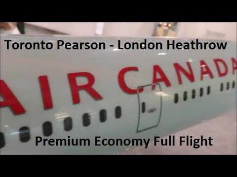 Full flight Air Canada's Boeing 777-300 Premium Economy 13 H&K- June 2017