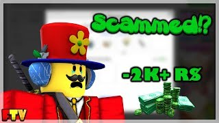 I GOT SCAMMED ON ROBLOX! [Lost 2k+ in account value]