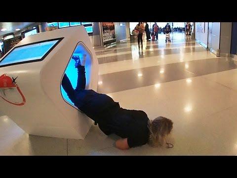 Ninja At The Airport!