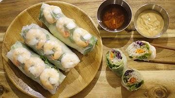 Vietnamese Food Recipe🇻🇳🌯베트남 새우 월남쌈 스프링롤 summer roll, spring roll ASMR