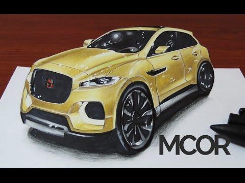 jaguar car drawing - photo #40