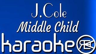 J Cole - Middle Child   Karaoke, Lyrics, Instrumental