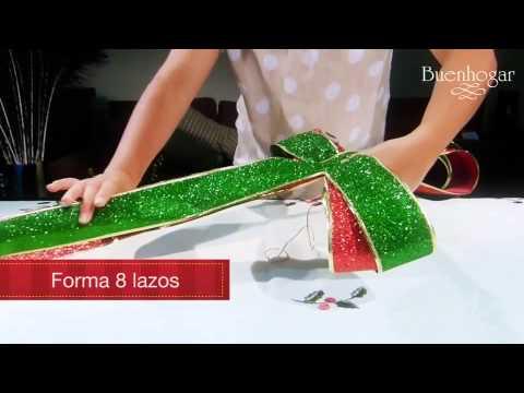 Tips decoraci n navidad buenhogar clip 2 youtube for Arreglos navidenos para puertas 2016