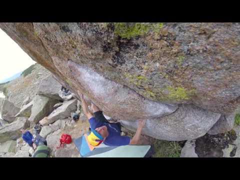 climbing video Paul Dusatko V8 at Lincoln Lake, CO