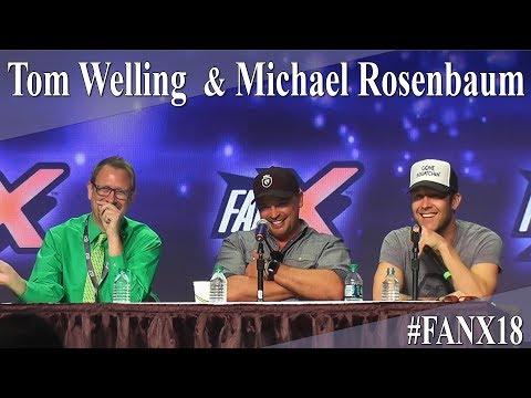 Michael Rosenbaum and Tom Welling  Smallville PanelQ&A  X 2018