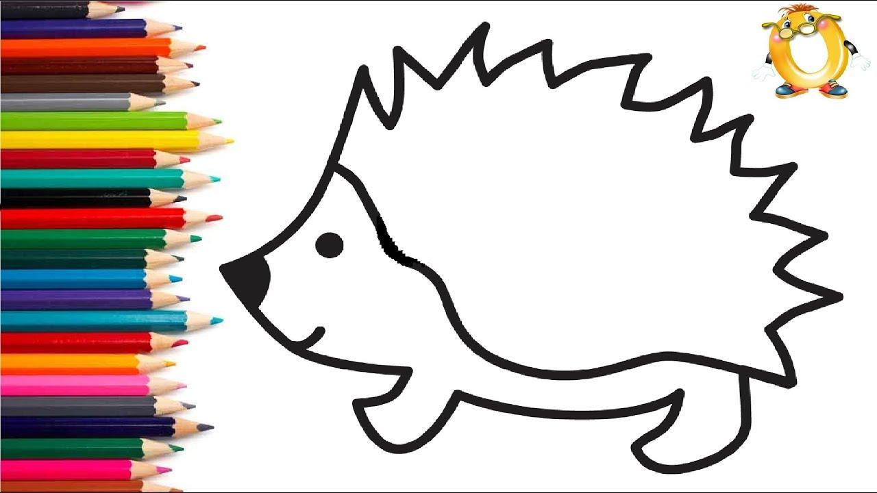 раскраска для детей животные мультик раскраска учим цвета