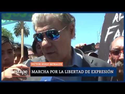 El Destape | Marcha para repudiar el despido de Víctor Hugo Morales