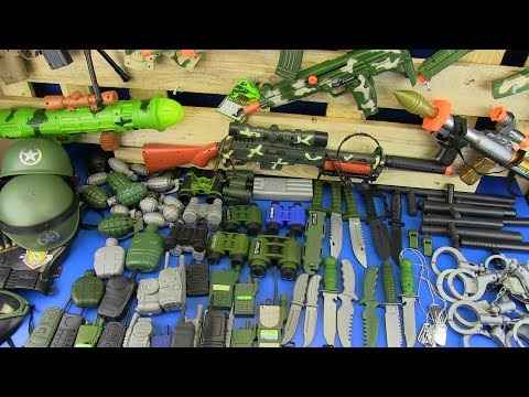 Box Full of Toys !!!Toy Guns Toys for Kids Realistic Police Military Toy Equipment