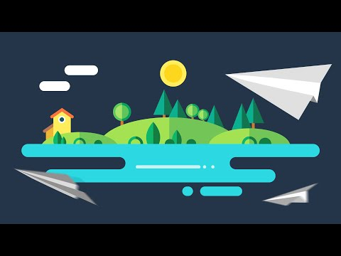 AFX/C4D Tutorial: Flat Design Animation