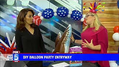 Sandi Masori Goes To Fox 5 San Diego ~ Entrance Decorations