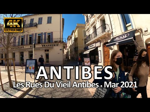 Antibes, France • 4K Ride • Les rues du Vieil Antibes • March 30, 2021 • Virtual Tour