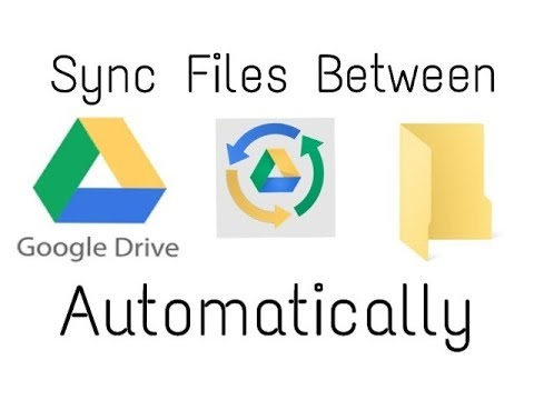 How to sync files in between computer and Google drive Automatically