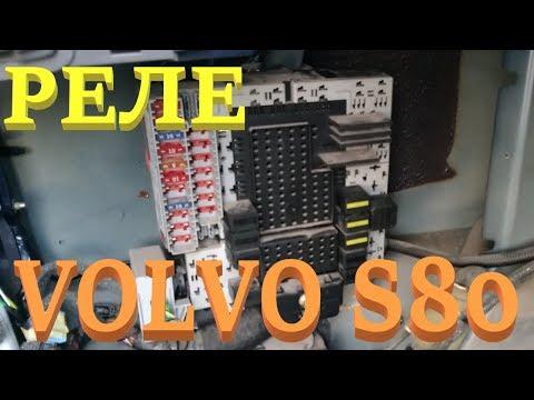Реле, противотуманки, стопы. Деактивация климата. Volvo S80.