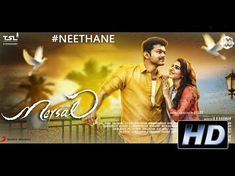 Mersal - Neethanae Tamil Lyric Video | Vijay, Samantha | A R Rahman