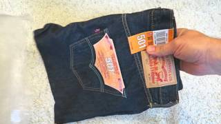 genuine levi s men s 501 original fit jeans from amazon unboxing