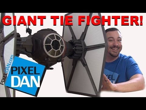 Star Wars First Order TIE Fighter Black Series Giant Ship Video Review