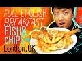 FULL ENGLISH BREAKFAST | Fish & Chips & SUNDAY ROAST in London