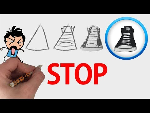 😡if you HATE drawing shoes, watch this😡