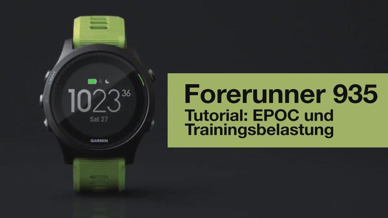 Forerunner 935 Tutorial - EPOC und Trainingsbelastung