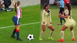 Das passiert, wenn Frauen Fussball spielen. - Verrückte  Torjubel  nach dem Tor