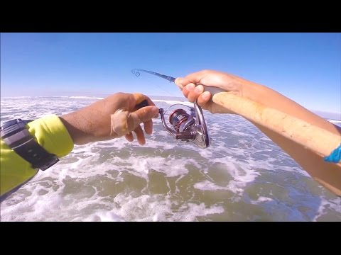 Testing Out A New Spinning Reel - Redtail Surf Fishing