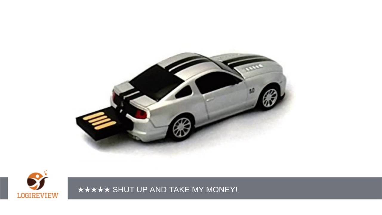 Ford Mustang GT USB Flash Drive 16GB Silver  7eb5fabfb0