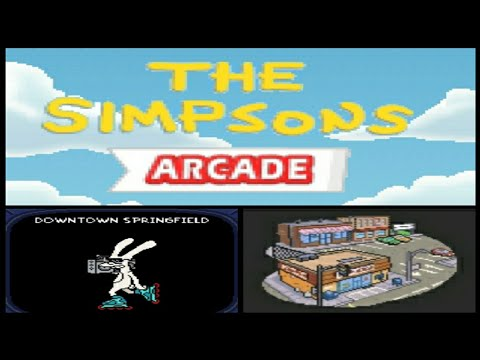 The Simpsons Arcade #01 - Downtown Springfield (Java Game)