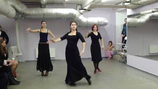 Школа Танцемания - фламенко, начинающие.(Отчетный концерт в школе танцев