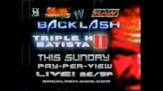 Backlash 2005 commercial