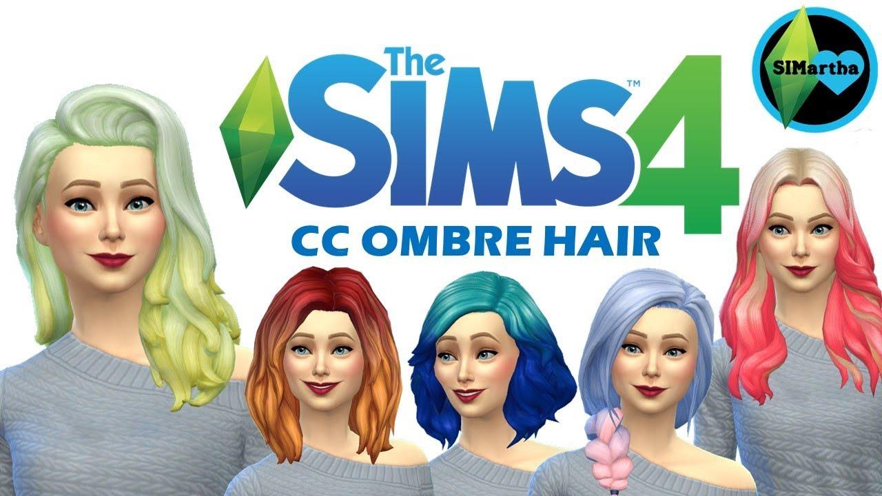 The Sims 4 | Maxis Match CC Showcase | OMBRE Hair #2 ...