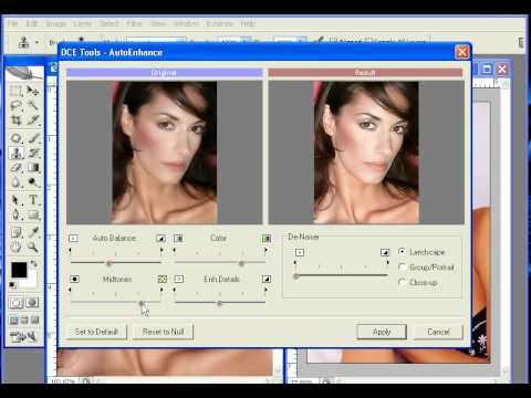 Photoshop CS2 - Phan 16 - Bai 2 - DCE tools + Grain surgery 2 Lo lem lot xac