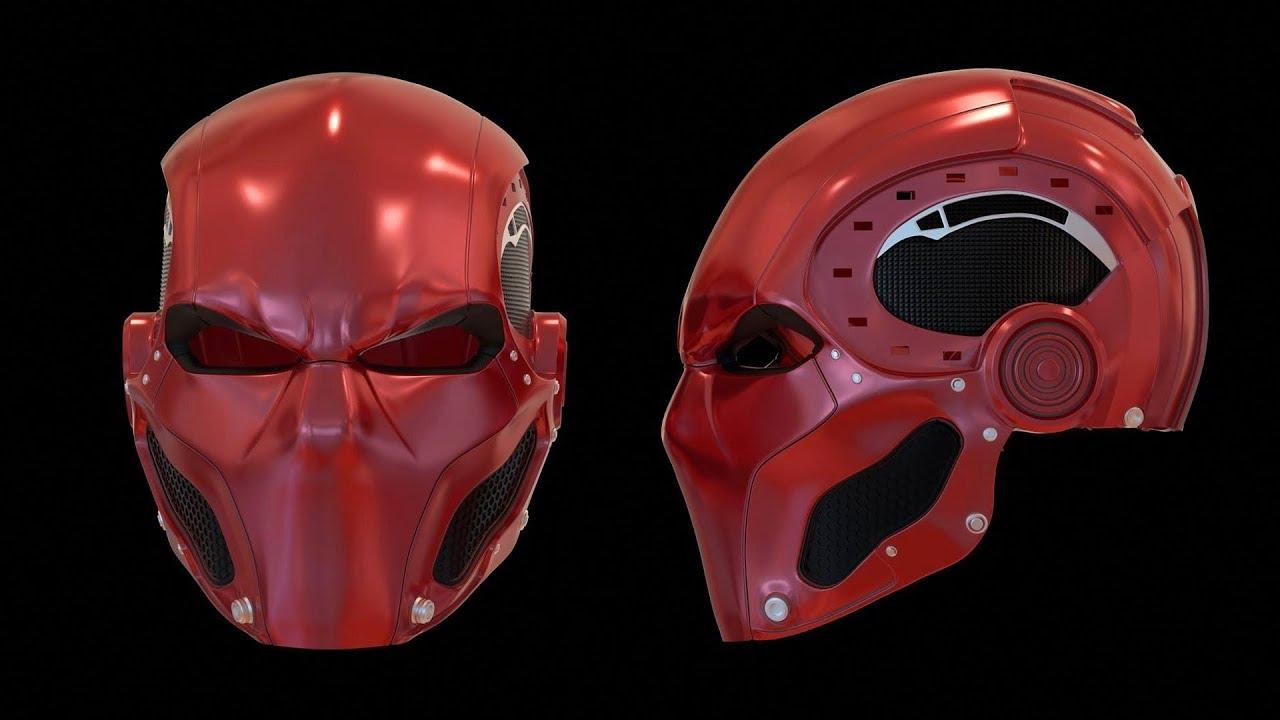 The Road To Red Hood Part 7 Completed Helmet Rendering