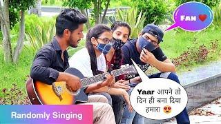 Randomly Singing In Front Of Beautiful Girls  Best Singing Reaction  Musical Reaction  Aabid Khan  