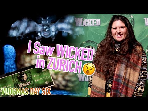 I Flew to Zurich to See WICKED the Musical (New UK & Ireland Tour) 💚 REVIEW ✨ VLOGMAS