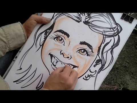Рисование шаржей в парке Глобо часть 2