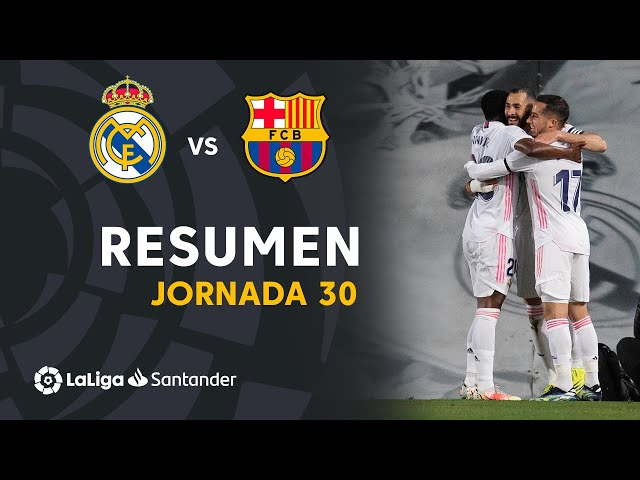 Resumen de Real Madrid vs FC Barcelona (2-1)