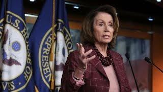 Nancy Pelosi speaks at news conference