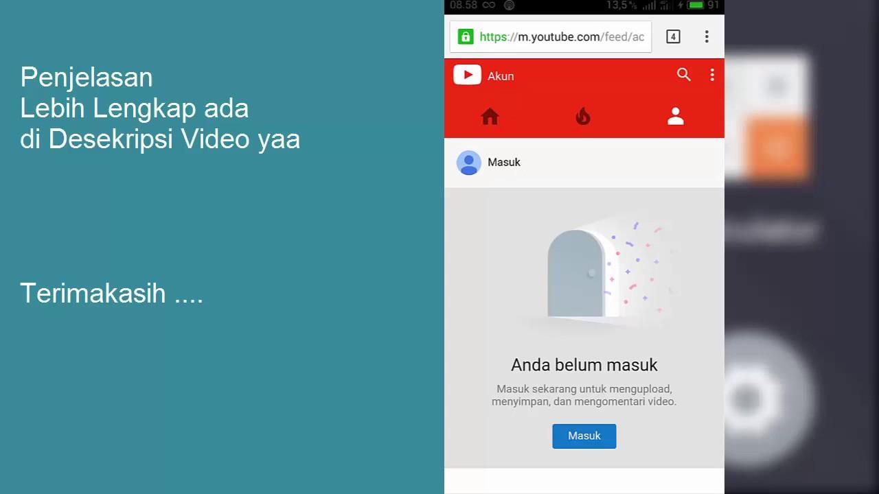 Cara Menghapus Saluran Youtube Di Hp Android Youtube