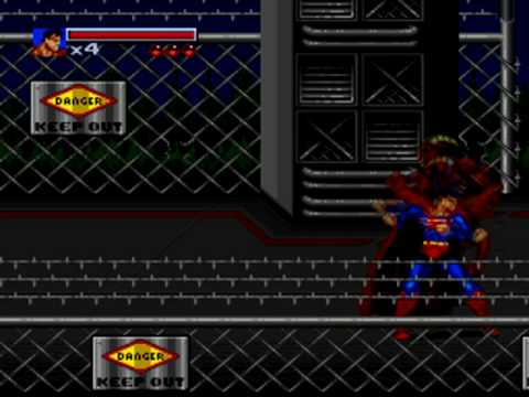The Death and Return of Superman (SNES) Level 1 - Siege of the Underworlders