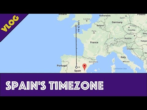 Spain is on the wrong time zone