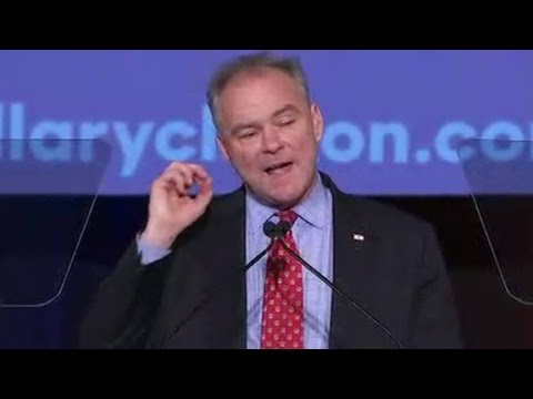 Tim Kaine slams Trump ... in Spanish at historic rally