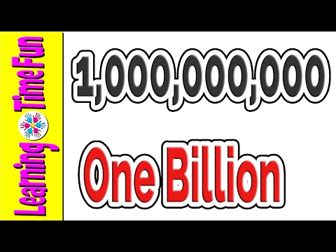 Counting for Kids | Big Numbers | Million Billion Trillion