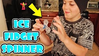 FIDGET SPINNER MADE OF ICE! (DIY)
