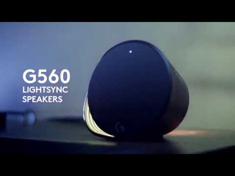 Logitech G560 LIGHTSYNC PC Gaming Speakers RGB driven by games :15s