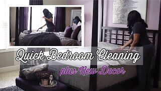 Master Bedroom Quick Clean With Me | Adding New Decor | Bedscape