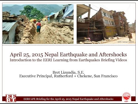 Introduction by B. Lizundia, EERI LFE Briefing for 2015 Nepal Earthquake and Aftershocks