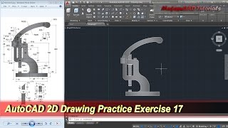 AutoCAD 2D Practice Drawing | Exercise 17 | Basic Tutorial