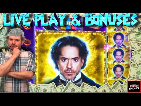 Gypsys, Brent, and SDGuy. LIVE PLAY on Game of Shadows Slot Machine with Bonuses and BIG WINS! - 동영상