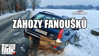 My first time in Subaru Impreza, Accidents and Drifting from the fans, Drift into the ditch